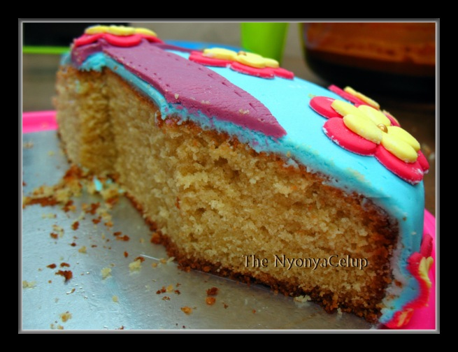 Cross-section of a sugee cake.