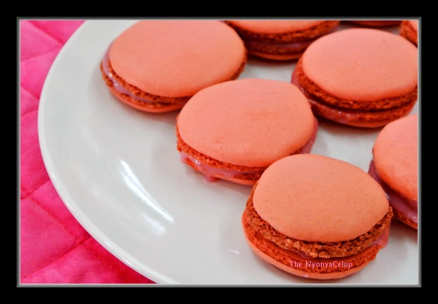 Macarons on a plate