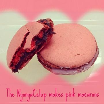 Pink rose macarons