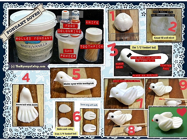Fondant Doves Tutorial